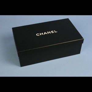 "Empty Chanel Black Shoe Box 11.5"" x 7"""